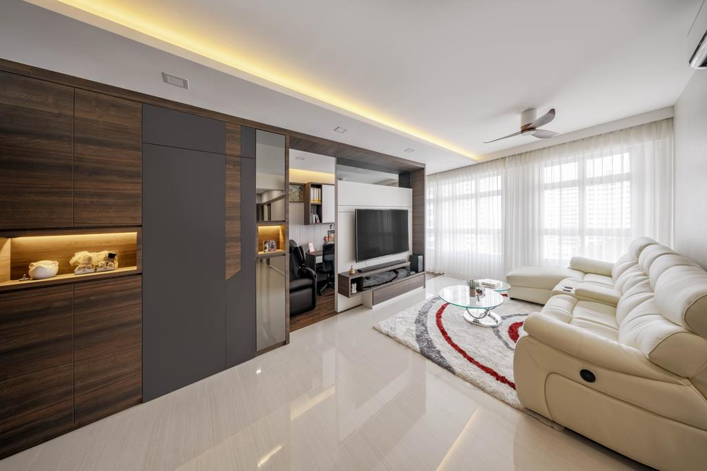 Contemporary, HDB, Living Room, Taman Jurong, Interior Designer, T&T Design Artisan, Indoors, Interior Design, Furniture, Sideboard