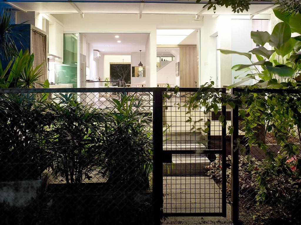 Contemporary, Landed, Ceylon Road, Interior Designer, The Design Abode, Gate, Backyard, Flora, Jar, Plant, Potted Plant, Pottery, Vase, Patio