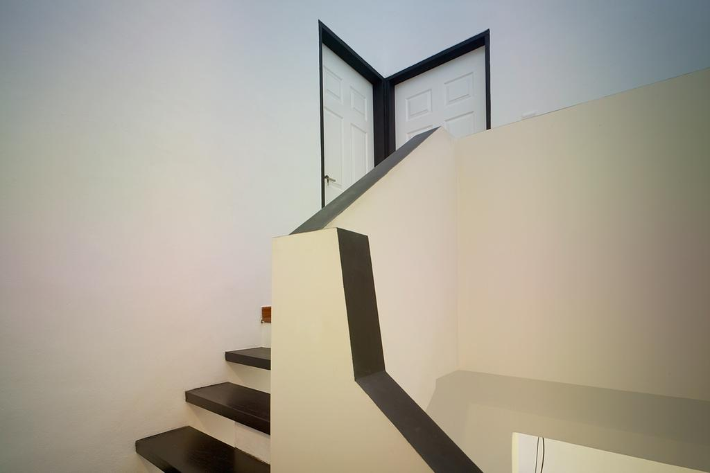 Minimalistic, Landed, Binchang Rise, Interior Designer, The Design Abode, Stairs, Banister, Handrail, Staircase