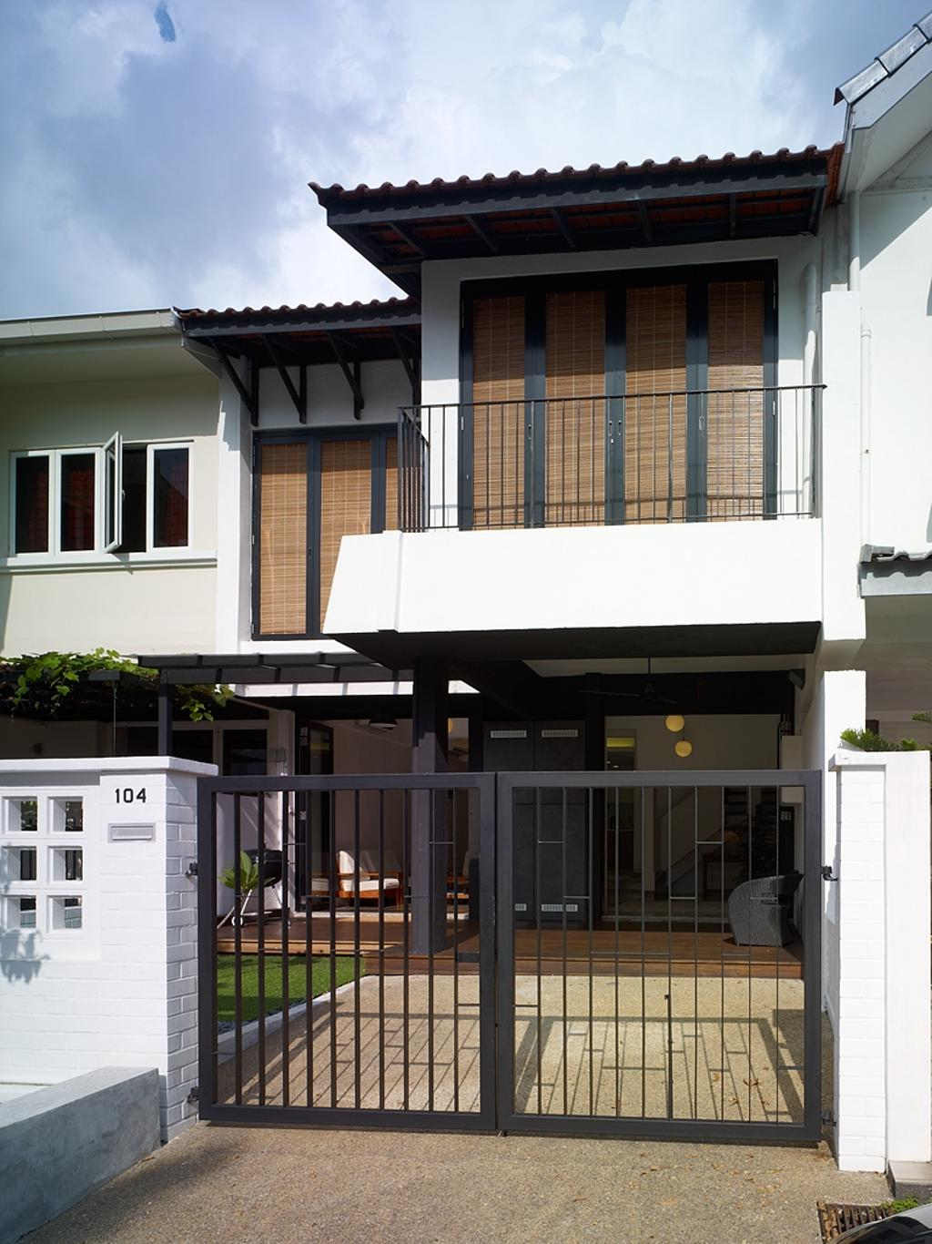 Minimalistic, Landed, Binchang Rise, Interior Designer, The Design Abode, Gate, Balcony, Building, House, Housing, Villa, Awning, Canopy