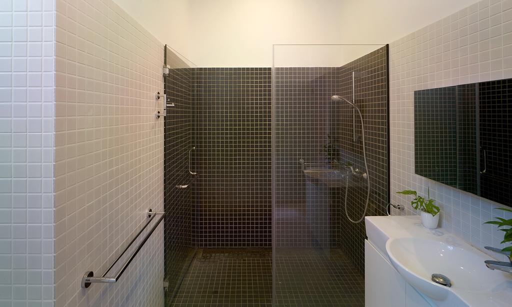 Minimalistic, Landed, Bathroom, Binchang Rise, Interior Designer, The Design Abode, Wall Tiles, Sink, Mirror, Shower, Shower Screen, Towl Rack, Indoors, Interior Design, Room