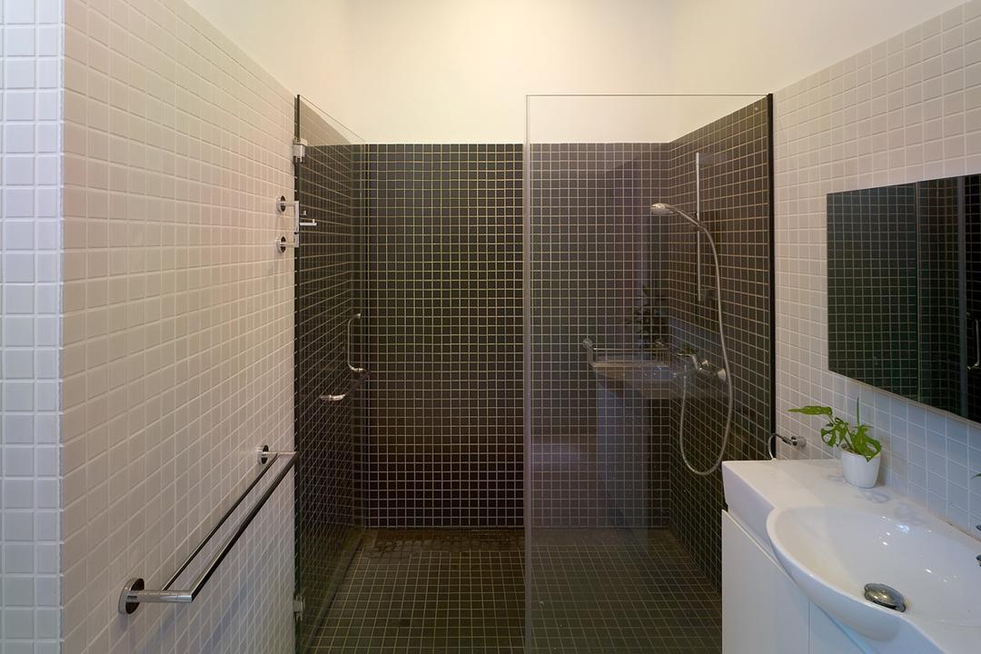 Binchang Rise, The Design Abode, Minimalistic, Bathroom, Landed, Wall Tiles, Sink, Mirror, Shower, Shower Screen, Towl Rack, Indoors, Interior Design, Room