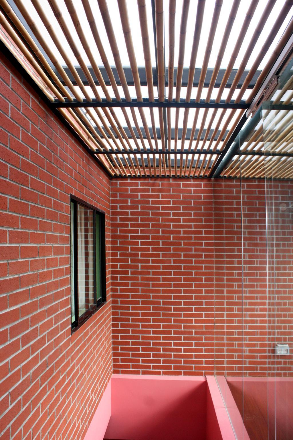 Contemporary, Landed, Fulton Avenue, Interior Designer, The Design Abode, Brick Wall, Red