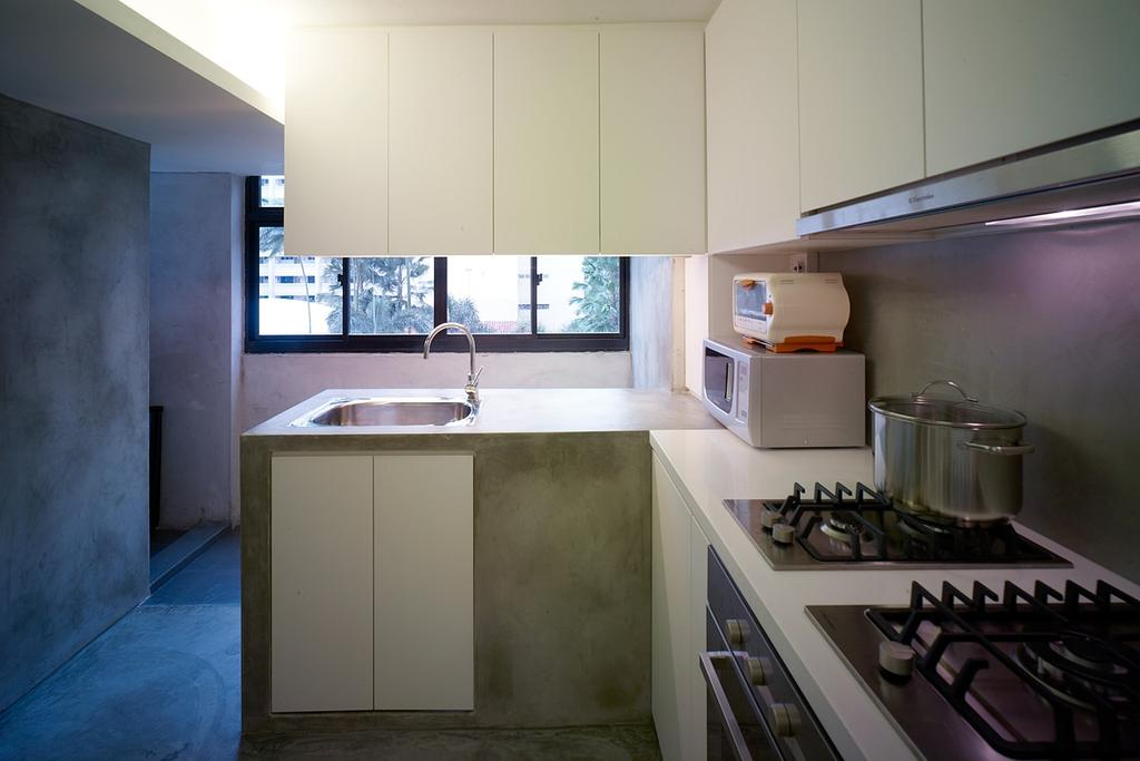Minimalistic, HDB, Kitchen, Holland Avenue, Interior Designer, The Design Abode, Stove, Cabinets, Sink, Appliance, Electrical Device, Oven, Building, Housing, Indoors