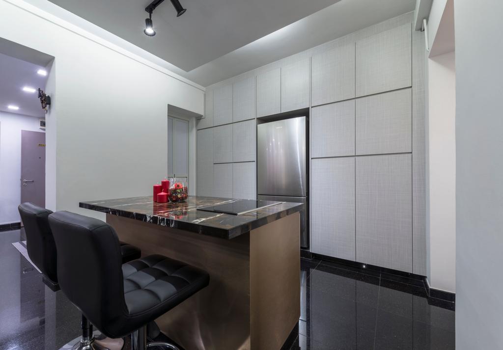 Modern, HDB, Kitchen, Pasir Ris Street 71, Interior Designer, DB Studio, Chair, Furniture, Dining Room, Indoors, Interior Design, Room, Light Fixture