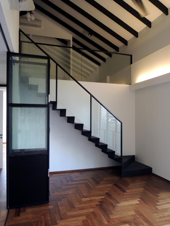 Contemporary, Landed, Elliot House, Interior Designer, The Design Abode, Stair, Staircase, Wood Floor, Wooden Flooring, Wood Flooring, Wooden Beams, Banister, Handrail