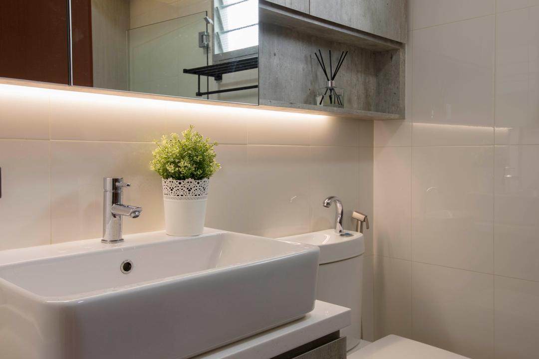 Sumang Lane (Block 232B), Starry Homestead, Scandinavian, Bathroom, HDB, Pot