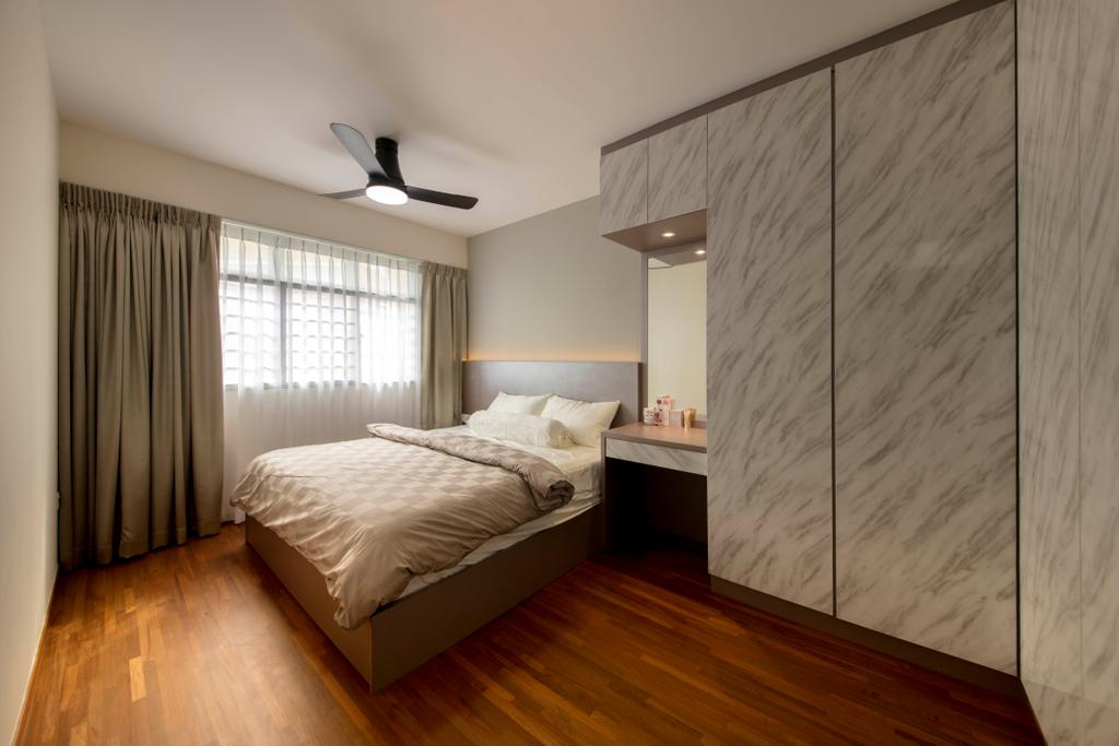 Modern, HDB, Bedroom, Yishun Ring Road, Interior Designer, Starry Homestead, Indoors, Interior Design, Room