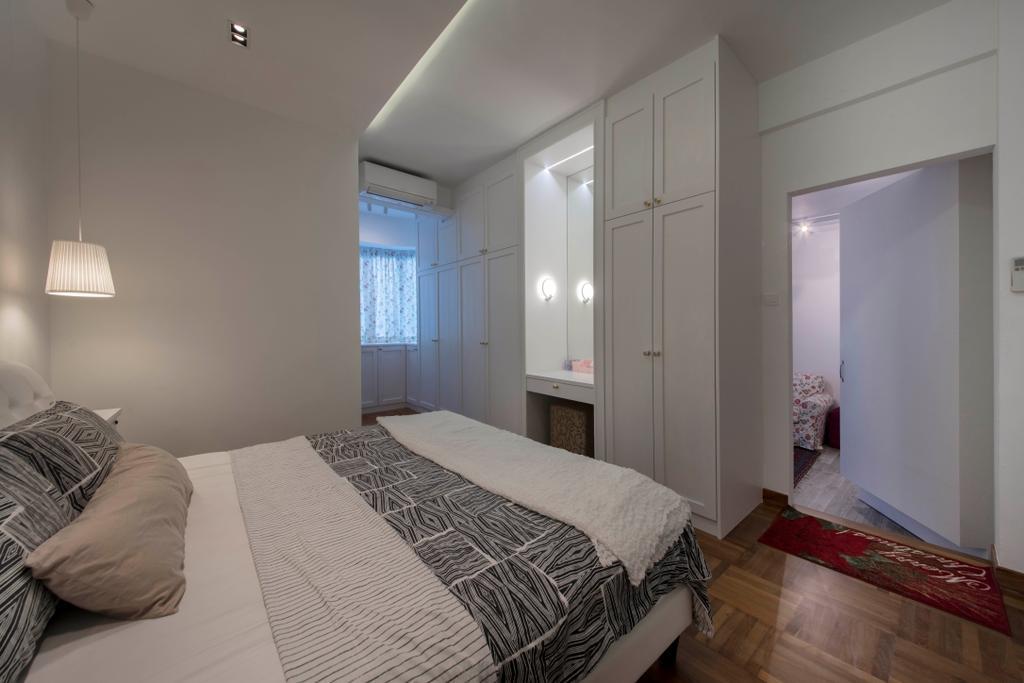 Scandinavian, HDB, Bedroom, Yishun, Interior Designer, Edge Interior, Flooring, Indoors, Room, Bed, Furniture, Interior Design