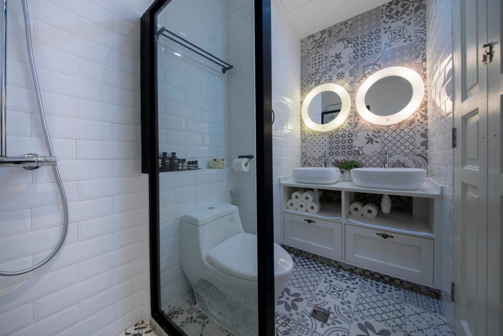 Scandinavian, HDB, Bathroom, Yishun, Interior Designer, Edge Interior, Indoors, Interior Design, Room, Hole