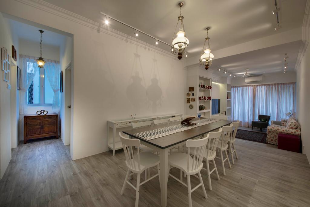 Scandinavian, HDB, Dining Room, Yishun, Interior Designer, Edge Interior, Couch, Furniture, Indoors, Interior Design, Room, Flooring, Chair