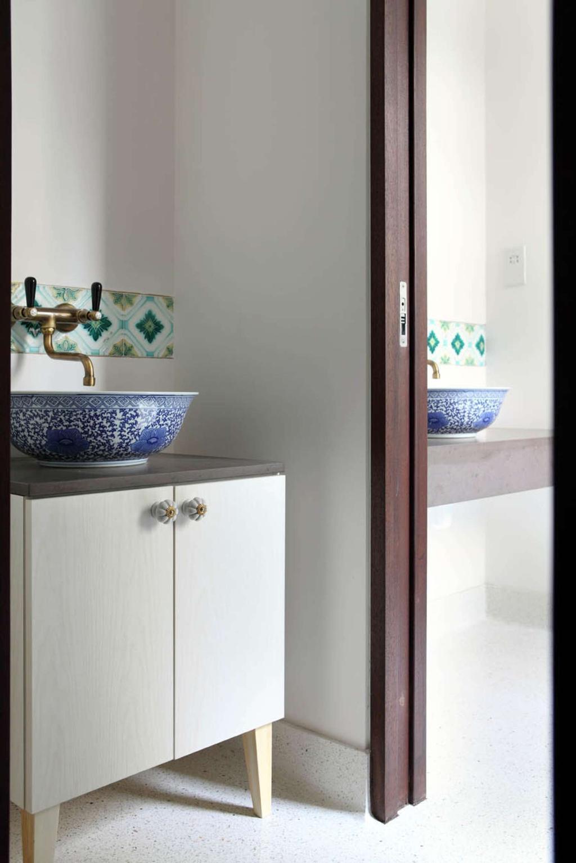 Traditional, Landed, Bathroom, Neil Road Shophouse, Interior Designer, The Design Abode, Sink, Bathroom Sink, Bathroom Vanity, Oriental, Prints
