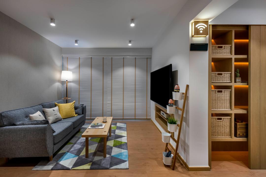 Edgefield Plains Living Room Interior Design 9
