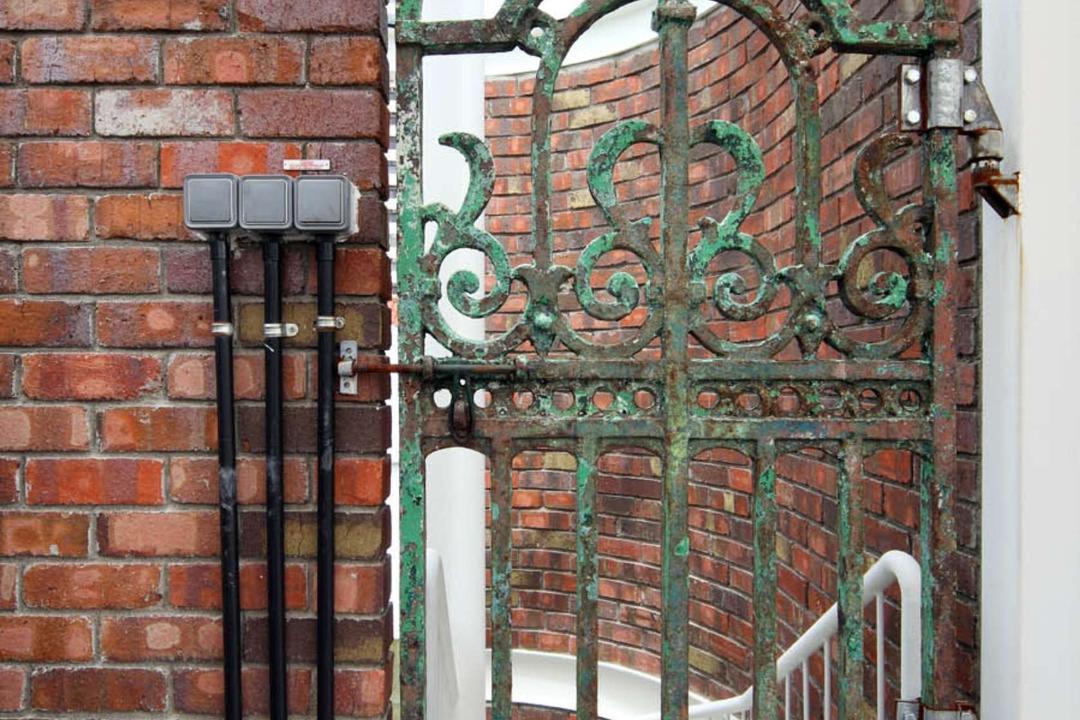 Neil Road Shophouse, The Design Abode, Traditional, Landed, Door, Metal Door, Brick Wall, Brick
