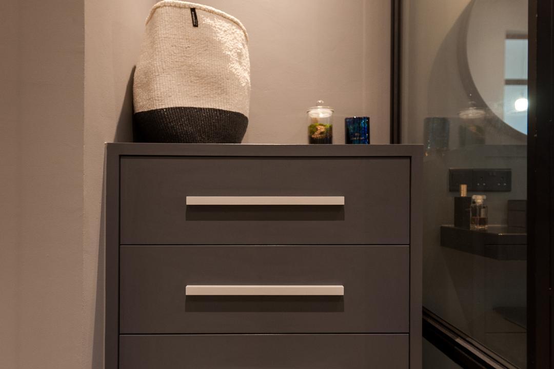 Seletar Road, MMJ Design Loft, Scandinavian, Bedroom, Condo, Appliance, Electrical Device, Oven, Furniture, Drawer