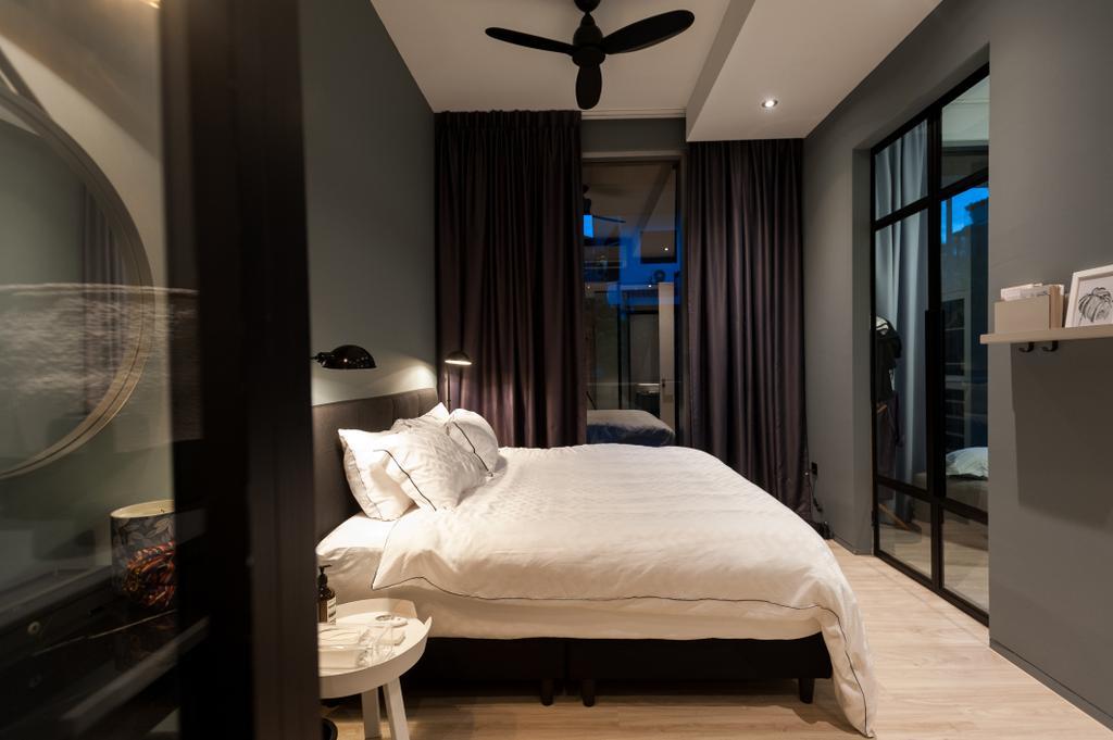 Scandinavian, Condo, Bedroom, Seletar Road, Interior Designer, MMJ Design Loft, Bed, Furniture, Indoors, Interior Design, Room