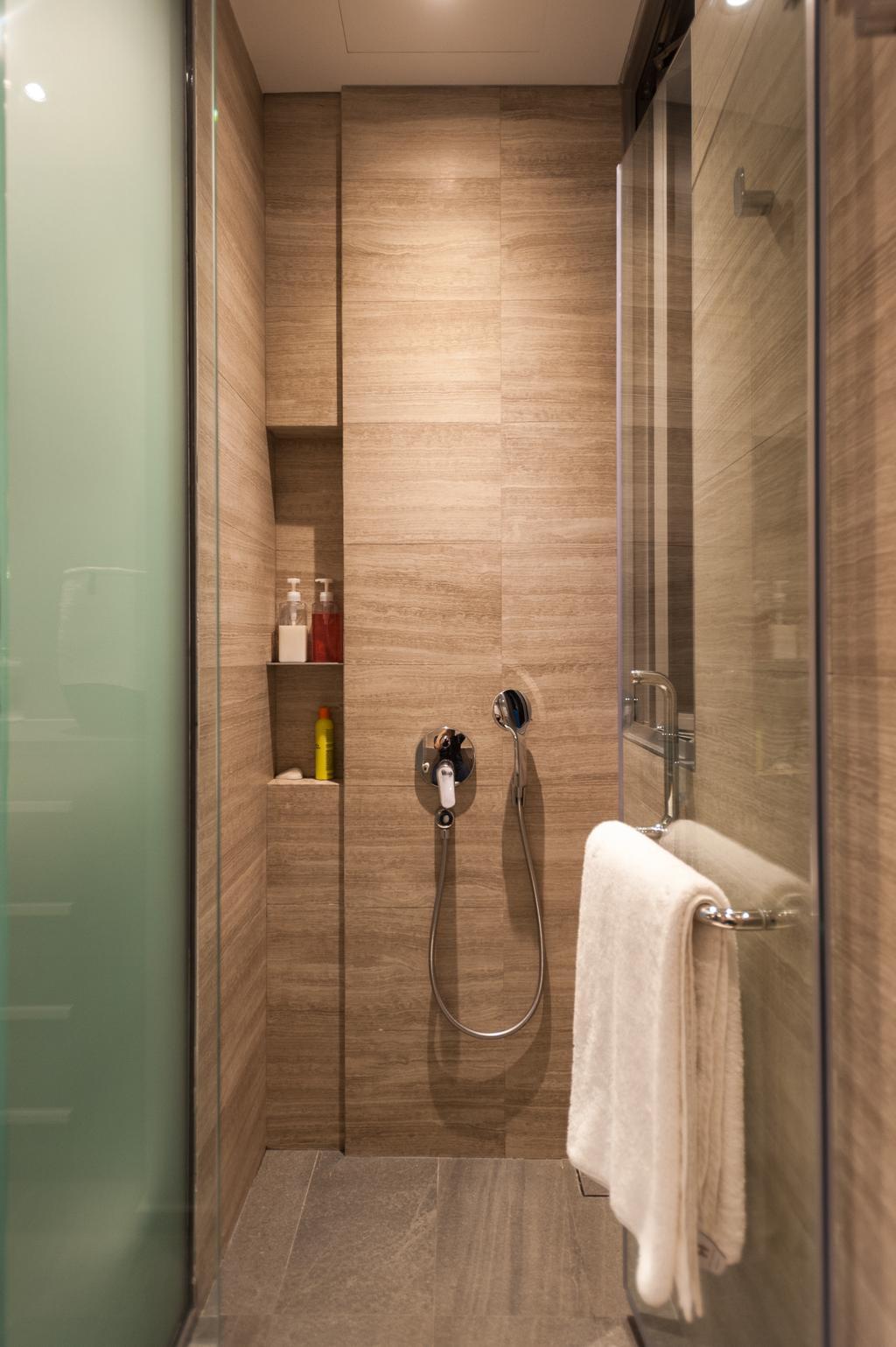 Scandinavian, Condo, Bathroom, Seletar Road, Interior Designer, MMJ Design Loft, Bottle, Towel, Indoors, Interior Design, Room