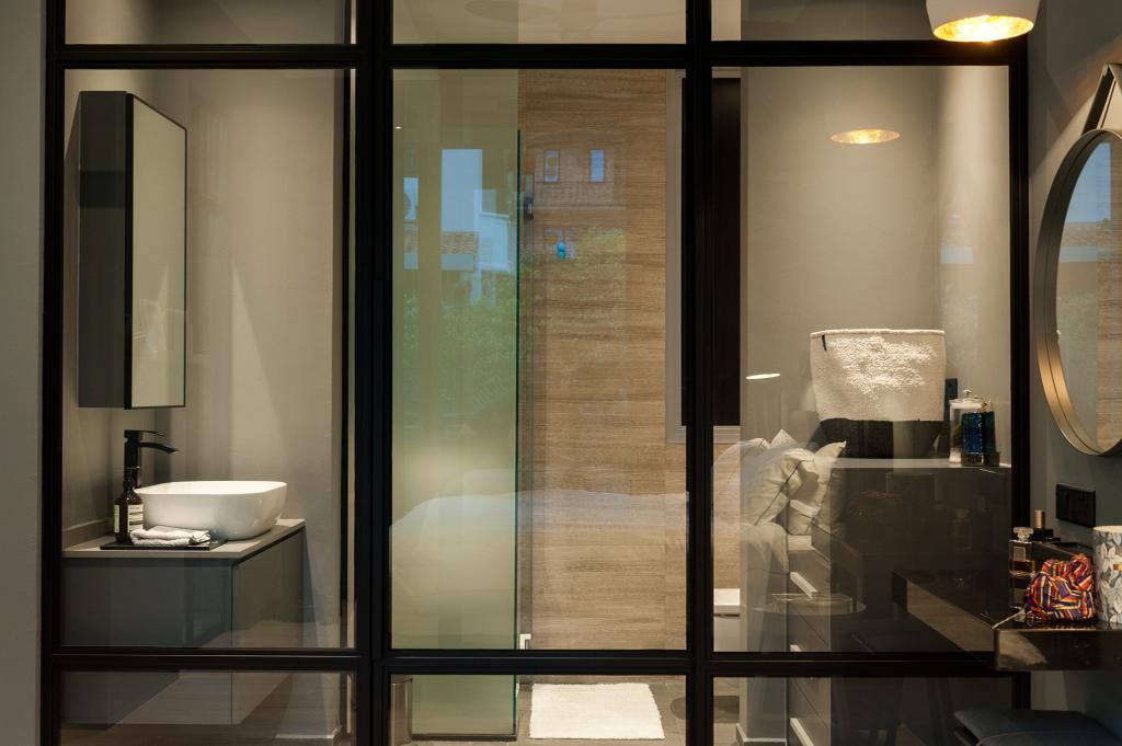 Scandinavian, Condo, Seletar Road, Interior Designer, MMJ Design Loft, Collage, Poster, Door, Sliding Door, Bathroom, Indoors, Interior Design, Room