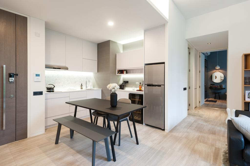 Scandinavian, Condo, Dining Room, Seletar Road, Interior Designer, MMJ Design Loft, Dining Table, Furniture, Table, Couch