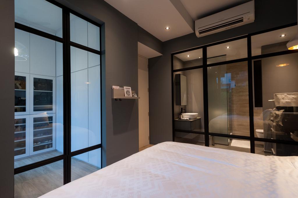 Scandinavian, Condo, Bedroom, Seletar Road, Interior Designer, MMJ Design Loft, Appliance, Electrical Device, Oven, Bed, Furniture, Lighting