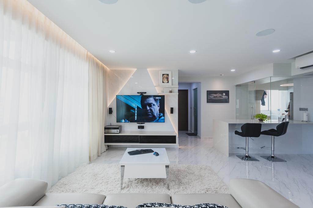 Modern, HDB, Living Room, Yishun, Interior Designer, MMJ Design Loft, Minimalistic, Indoors, Interior Design, Dining Table, Furniture, Table