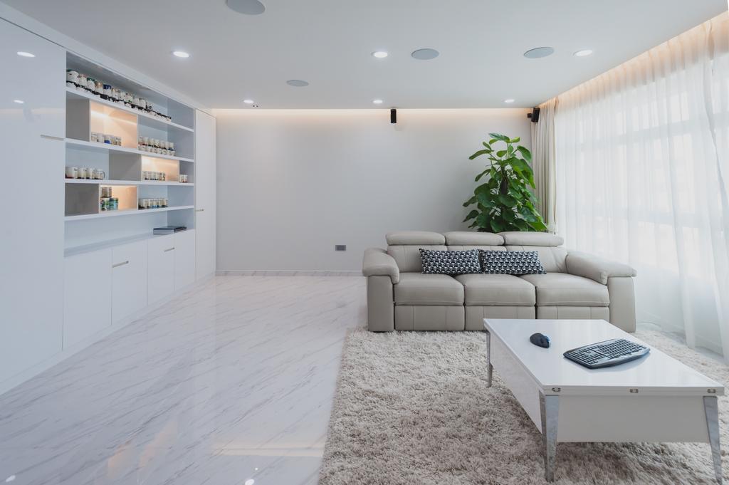 Modern, HDB, Living Room, Yishun, Interior Designer, MMJ Design Loft, Minimalistic