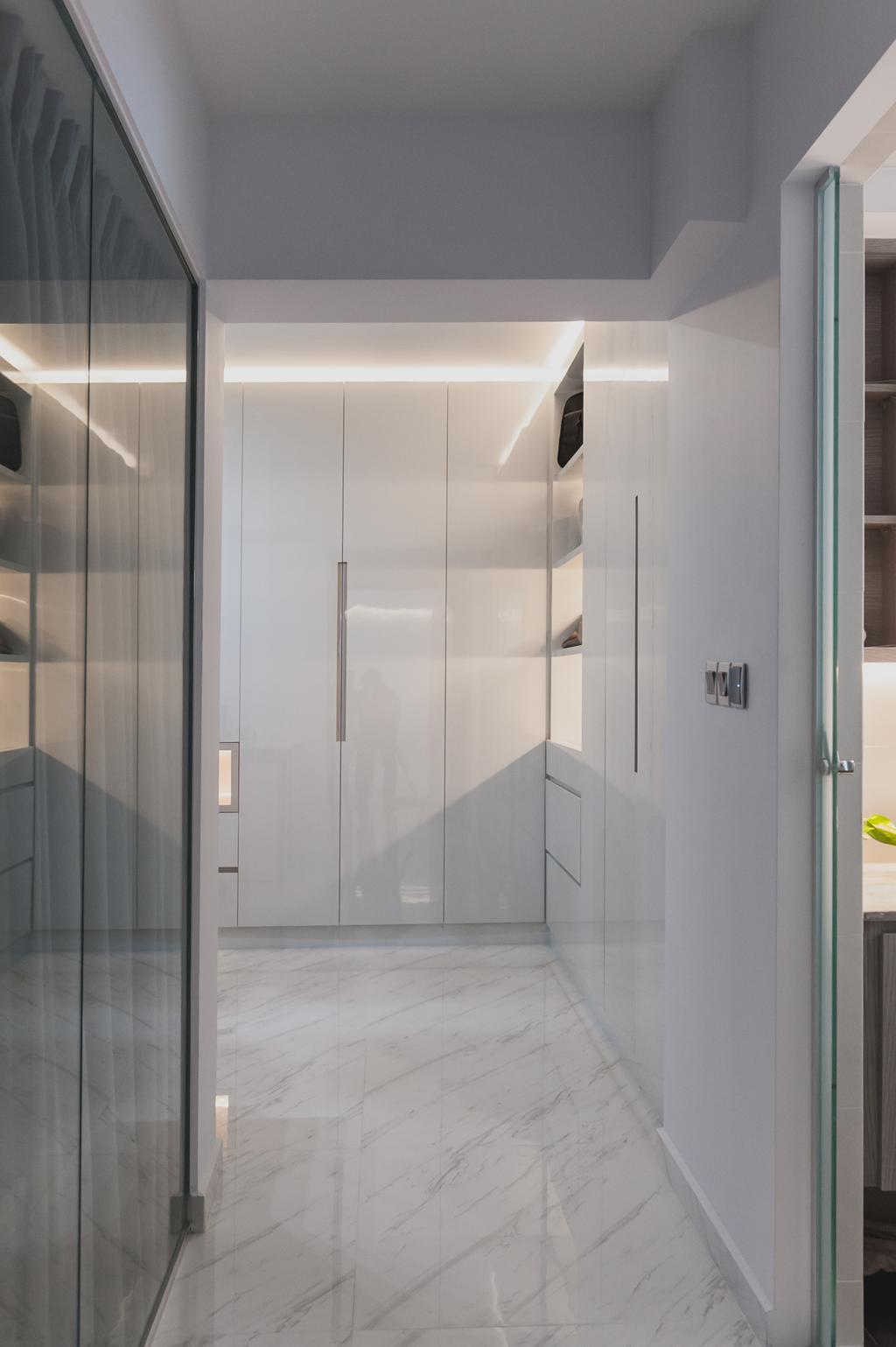 Modern, HDB, Yishun, Interior Designer, MMJ Design Loft, Minimalistic, Door, Sliding Door