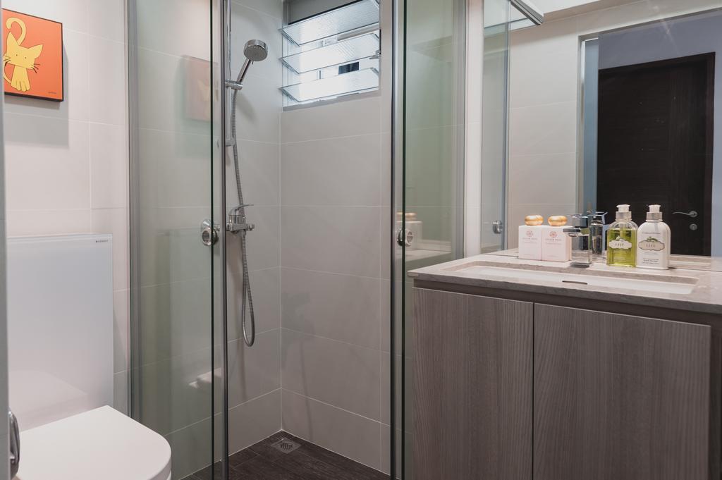 Modern, HDB, Bathroom, Yishun, Interior Designer, MMJ Design Loft, Minimalistic, Indoors, Interior Design, Room