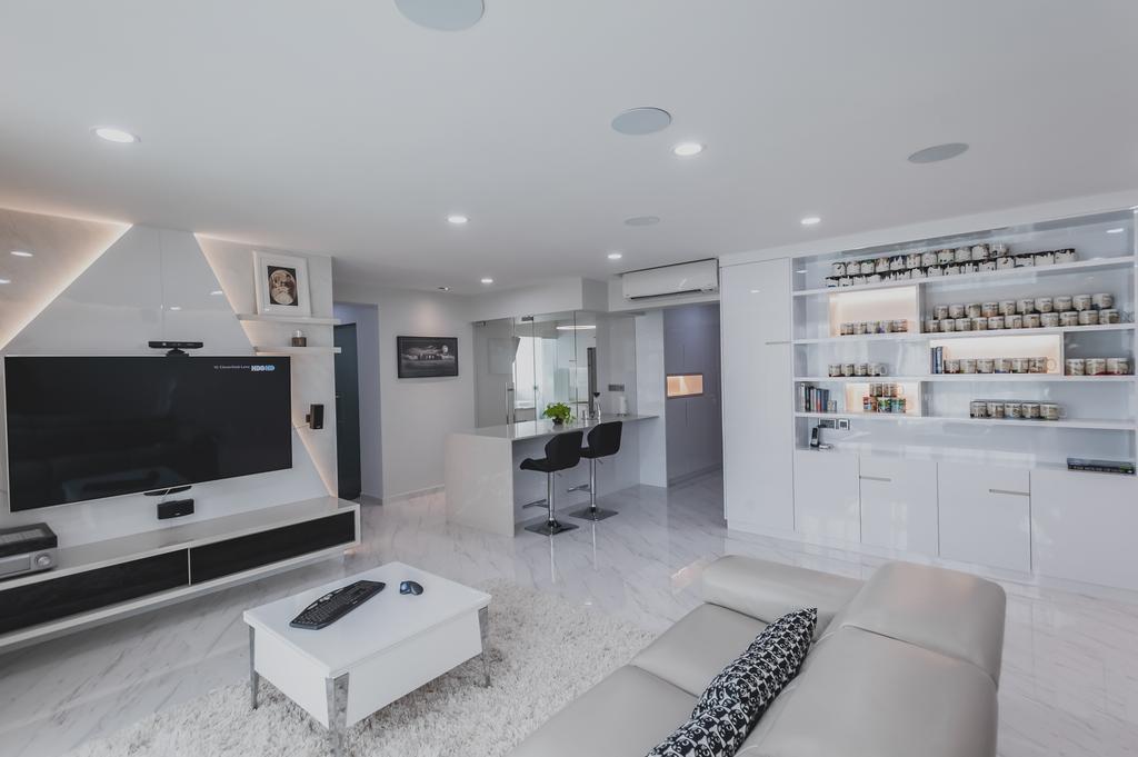 Modern, HDB, Living Room, Yishun, Interior Designer, MMJ Design Loft, Minimalistic, Indoors, Room