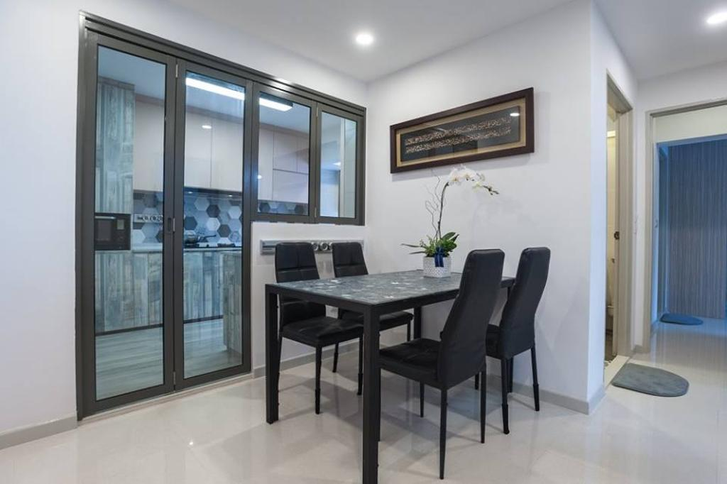 Contemporary, HDB, Dining Room, Upper Serangoon Road, Interior Designer, MMJ Design Loft, Dining Table, Furniture, Table, Chair, Indoors, Interior Design, Room