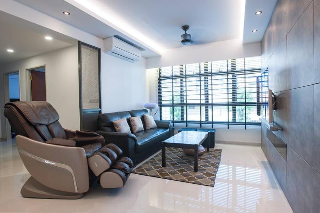 Contemporary, HDB, Living Room, Upper Serangoon Road, Interior Designer, MMJ Design Loft, Couch, Furniture