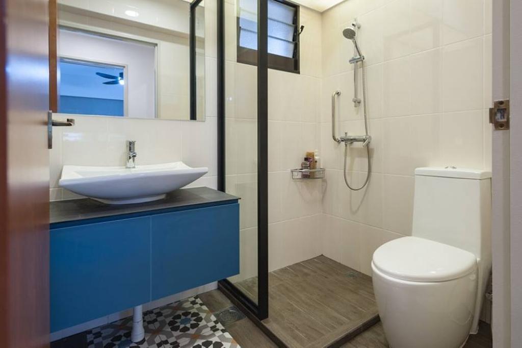 Contemporary, HDB, Bathroom, Upper Serangoon Road, Interior Designer, MMJ Design Loft, Sink, Indoors, Interior Design, Room, Toilet