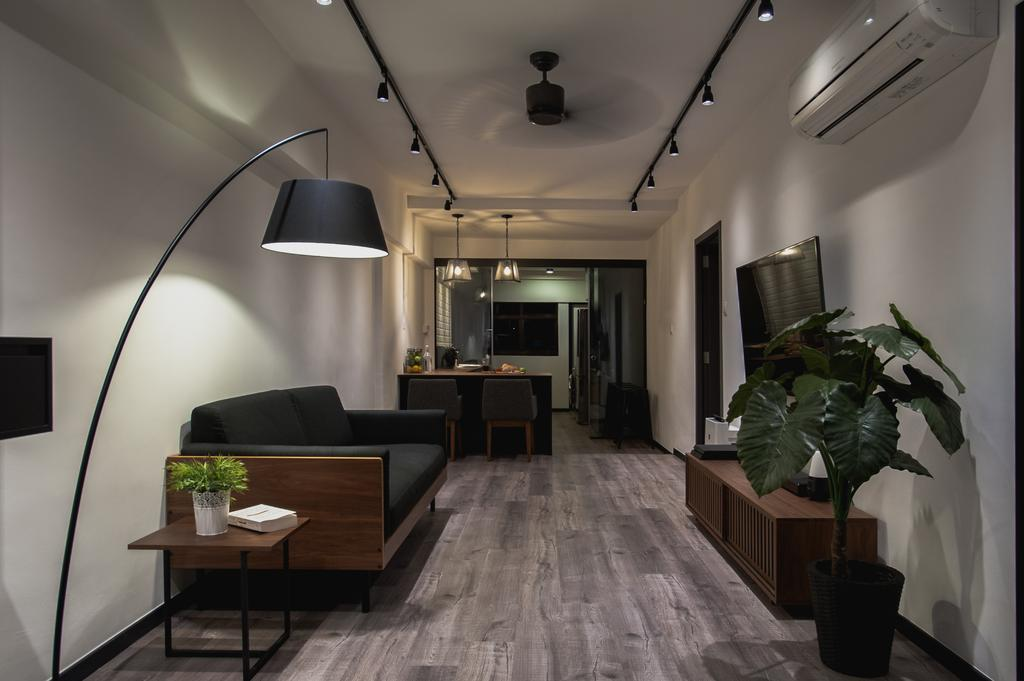 Eclectic, HDB, Living Room, Ang Mo Kio Avenue 3, Interior Designer, MMJ Design Loft, Flora, Jar, Plant, Potted Plant, Pottery, Vase, Couch, Furniture, Dining Room, Indoors, Interior Design, Room, Dining Table, Table