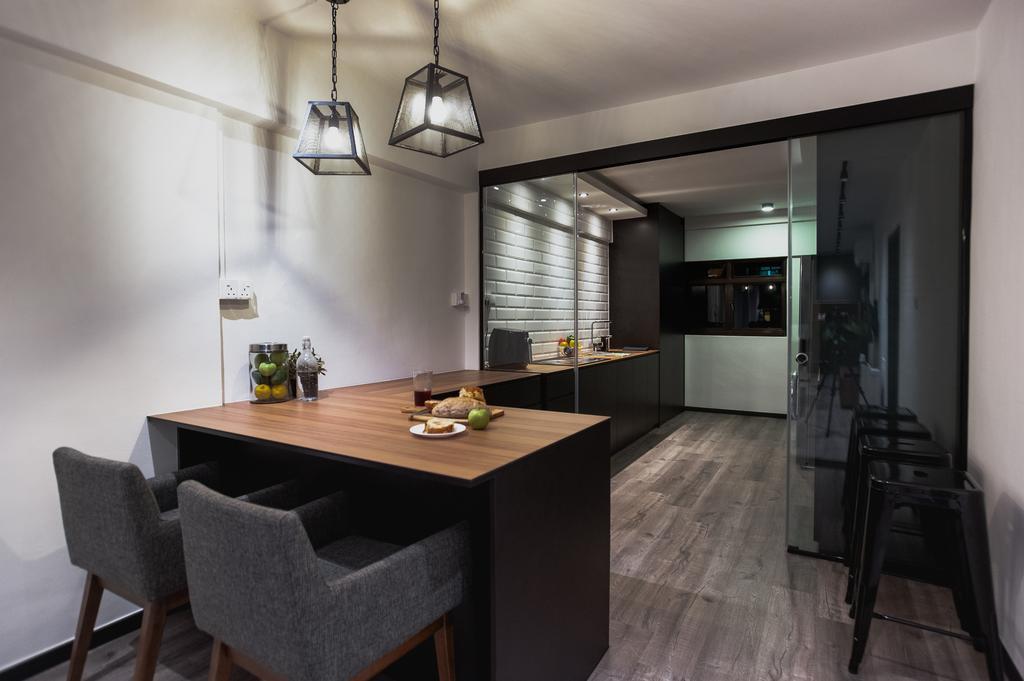 Eclectic, HDB, Dining Room, Ang Mo Kio Avenue 3, Interior Designer, MMJ Design Loft, Indoors, Interior Design, Room, Dining Table, Furniture, Table, Chair, Flooring