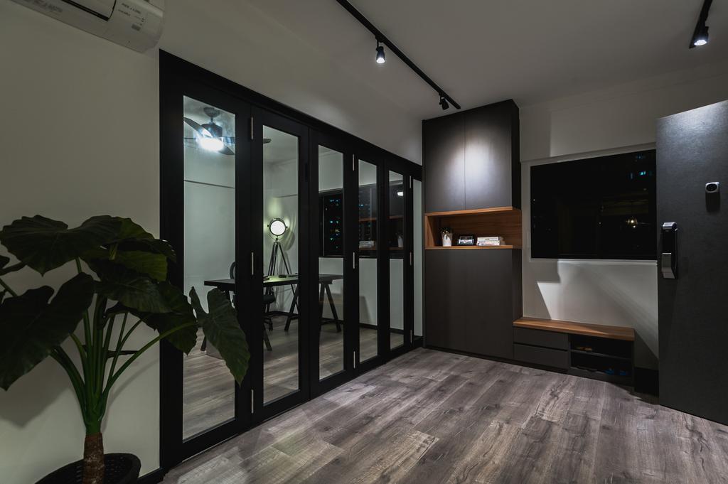 Eclectic, HDB, Living Room, Ang Mo Kio Avenue 3, Interior Designer, MMJ Design Loft, Flora, Jar, Plant, Potted Plant, Pottery, Vase, Electronics, Entertainment Center, Home Theater, Flooring