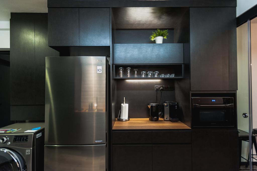 Eclectic, HDB, Kitchen, Ang Mo Kio Avenue 3, Interior Designer, MMJ Design Loft, Collage, Poster, Indoors, Interior Design, Room, Appliance, Electrical Device, Fridge, Refrigerator, Washer