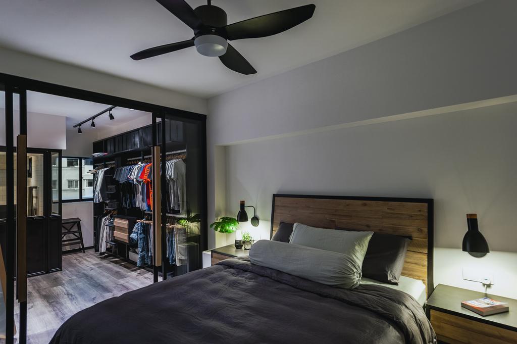 Eclectic, HDB, Bedroom, Ang Mo Kio Avenue 3, Interior Designer, MMJ Design Loft, Propeller, Canopy, Umbrella