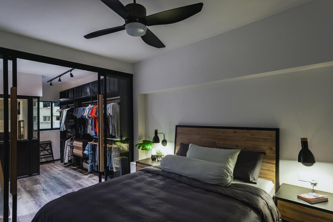 Ang Mo Kio Avenue 3, MMJ Design Loft, Eclectic, Bedroom, HDB, Propeller, Canopy, Umbrella