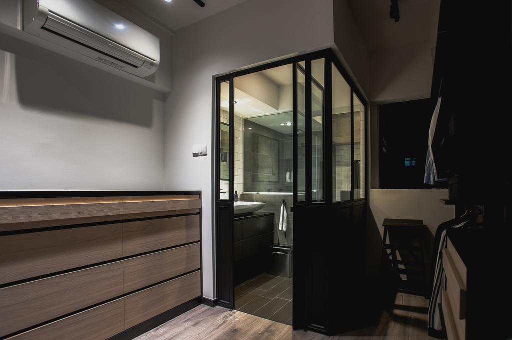 Eclectic, HDB, Ang Mo Kio Avenue 3, Interior Designer, MMJ Design Loft, Corridor, Building, Housing, Indoors, Loft