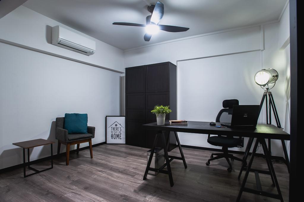 Eclectic, HDB, Study, Ang Mo Kio Avenue 3, Interior Designer, MMJ Design Loft, Chair, Furniture, Dining Table, Table, Dining Room, Indoors, Interior Design, Room, Tripod