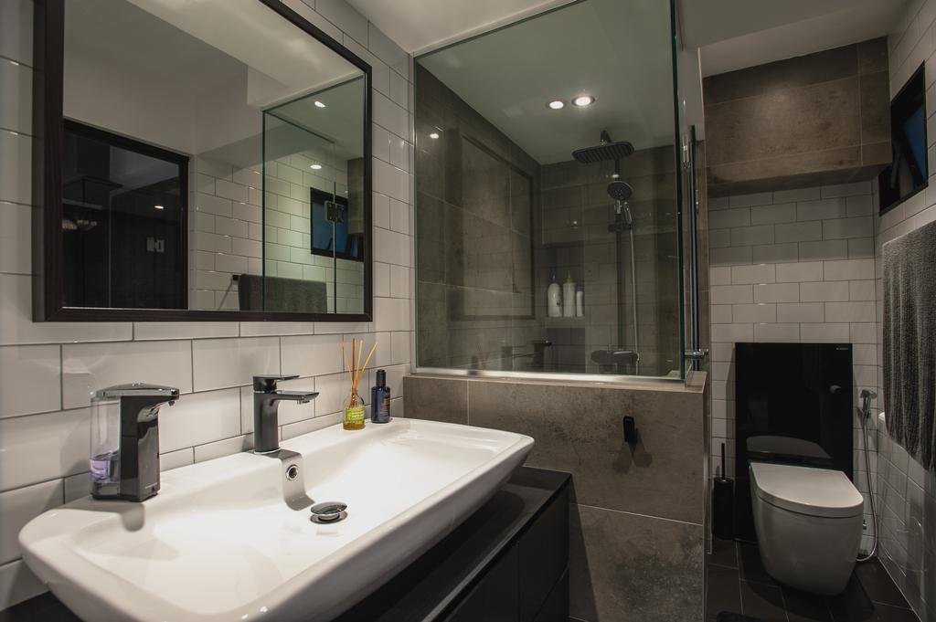 Eclectic, HDB, Bathroom, Ang Mo Kio Avenue 3, Interior Designer, MMJ Design Loft, Indoors, Interior Design, Room, Toilet