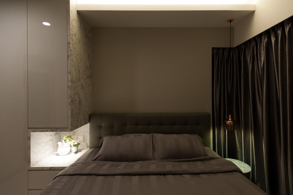 Modern, HDB, Bedroom, Ang Mo Kio Street 51, Interior Designer, MMJ Design Loft, Curtain, Home Decor, Indoors, Interior Design, Room