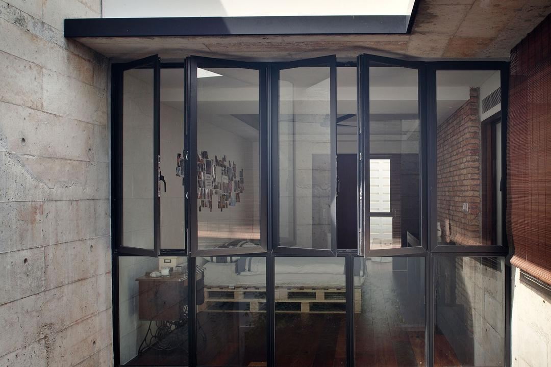 Neil Road Shophouse, The Design Abode, Traditional, Landed, Window, Brick Wall, Oriental, Antique, Old, Rustic, Brick