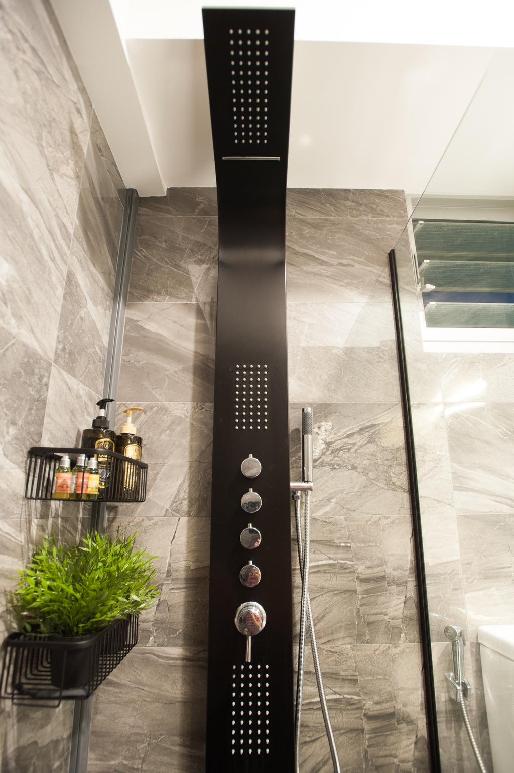 Modern, HDB, Bathroom, Ang Mo Kio Street 51, Interior Designer, MMJ Design Loft, Railing