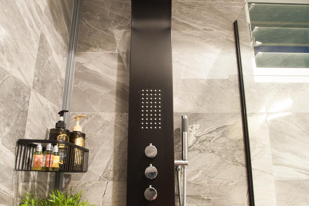 Ang Mo Kio Street 51, MMJ Design Loft, Modern, Bathroom, HDB, Railing