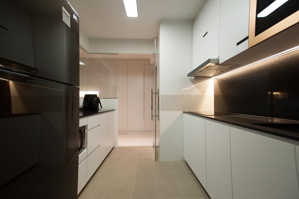 Modern, HDB, Kitchen, Ang Mo Kio Street 51, Interior Designer, MMJ Design Loft, Lighting, Corridor