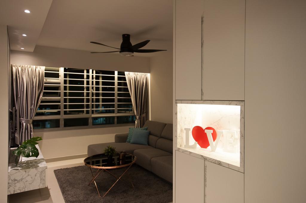 Modern, HDB, Living Room, Ang Mo Kio Street 51, Interior Designer, MMJ Design Loft, Couch, Furniture, Indoors, Room