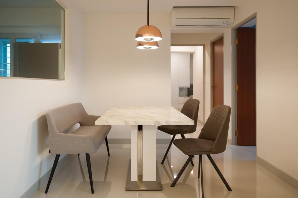 Modern, HDB, Dining Room, Ang Mo Kio Street 51, Interior Designer, MMJ Design Loft, Chair, Furniture, Dining Table, Table, Indoors, Interior Design, Room