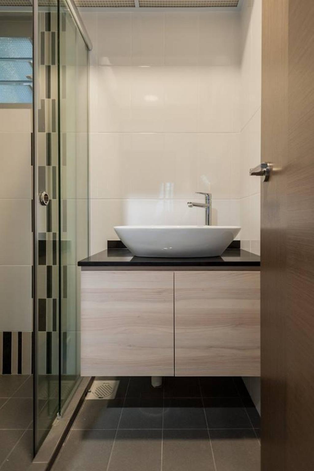 Scandinavian, HDB, Bathroom, Bendemeer Road, Interior Designer, MMJ Design Loft, Sink