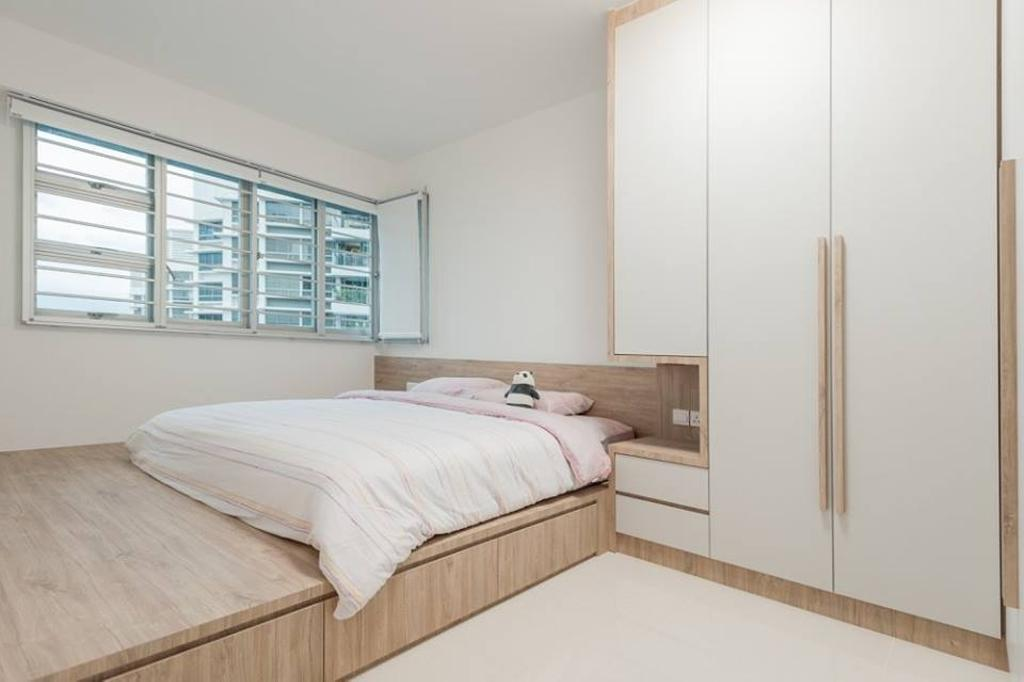Scandinavian, HDB, Bedroom, Bendemeer Road, Interior Designer, MMJ Design Loft, Bed, Furniture, Indoors, Interior Design, Room